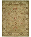 RugStudio presents HRI Newburry CH-6 Light Green-Ivory Hand-Knotted, Best Quality Area Rug