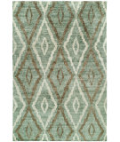 RugStudio presents HRI Noble 9131-J Light Green Hand-Knotted, Good Quality Area Rug