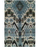 RugStudio presents HRI Noble 9178 Light Blue Hand-Knotted, Good Quality Area Rug