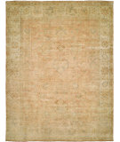 RugStudio presents Hri Ottoman 106 Peach - Ivory Hand-Knotted, Good Quality Area Rug