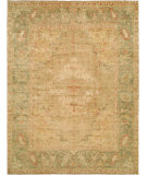 RugStudio presents Hri Ottoman 109 Lt Gold - Green Hand-Knotted, Good Quality Area Rug