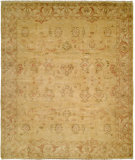 RugStudio presents Hri Oushak B-2B Gold - Ivory Hand-Knotted, Best Quality Area Rug