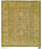 RugStudio presents Hri Oushak B-26 Grey/Gold Hand-Knotted, Good Quality Area Rug