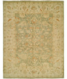 RugStudio presents Rugstudio Sample Sale 68112R Light Green - Ivory Hand-Knotted, Good Quality Area Rug