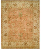 RugStudio presents Hri Oushak B-26 Peach/Ivory Hand-Knotted, Good Quality Area Rug