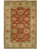 RugStudio presents Rugstudio Sample Sale 21854R Rust Ivory Hand-Knotted, Best Quality Area Rug
