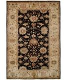 RugStudio presents HRI Peshawar P-5 Black Ivory Hand-Knotted, Best Quality Area Rug