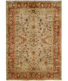 RugStudio presents Hri Peshawar P-15 Beige - Rust Hand-Knotted, Best Quality Area Rug