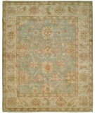 RugStudio presents Hri Peshawar P-6 Light Blue - Ivory Hand-Knotted, Best Quality Area Rug