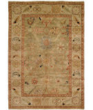 RugStudio presents Hri Peshawar P-6 Light Green - Ivory Hand-Knotted, Best Quality Area Rug