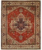 RugStudio presents HRI Serapi Heritage SH-14 Red-Ivory C Hand-Knotted, Best Quality Area Rug
