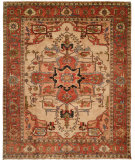 RugStudio presents Hri Serapi Heritage Sh-16a Ivory - Rust Hand-Knotted, Good Quality Area Rug