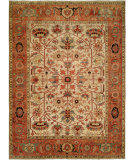 RugStudio presents Hri Serapi Heritage Sh-45 Ivory - Rust Hand-Knotted, Good Quality Area Rug