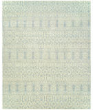 RugStudio presents Hri Vogue 20-A Ivory - Blue Hand-Knotted, Good Quality Area Rug