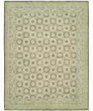 RugStudio presents Hri Vogue NZ-2 Ivory - Brown Hand-Knotted, Good Quality Area Rug