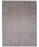 RugStudio presents Jaipur Rugs Connextion By Jenny Jones - Signature CS06 Soft Gray Hand-Knotted, Good Quality Area Rug