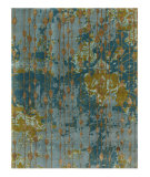 RugStudio presents Jaipur Rugs Connextion By Jenny Jones - Global CG08 Light Turquoise Hand-Knotted, Good Quality Area Rug