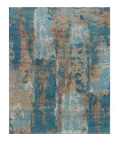 RugStudio presents Jaipur Rugs Connextion By Jenny Jones - Global CG10 Caribbean Sea Hand-Knotted, Good Quality Area Rug