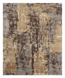 RugStudio presents Jaipur Rugs Connextion By Jenny Jones - Global CG11 Dark Taupe Hand-Knotted, Good Quality Area Rug
