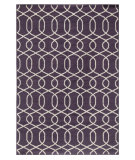 RugStudio presents Rugstudio Sample Sale 70032R Continental Plum Flat-Woven Area Rug