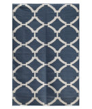 RugStudio presents Rugstudio Sample Sale 70025R Dark Denim Flat-Woven Area Rug