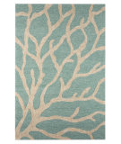 RugStudio presents Jaipur Rugs Coastal I-O Coral CI13 Frosty Green Hand-Hooked Area Rug