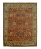 RugStudio presents Rugstudio Sample Sale 53262R Rust/Sand Hand-Knotted, Good Quality Area Rug