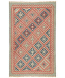 RugStudio presents Jaipur Rugs Anatolia Ottoman At01 Burnt Brick / Medium Blue Flat-Woven Area Rug