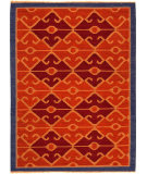 RugStudio presents Jaipur Rugs Anatolia Sultan At02 Red Oxide / Navy Flat-Woven Area Rug
