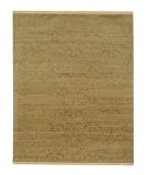 RugStudio presents Rugstudio Sample Sale 53446R Fog/Soft Gold Hand-Knotted, Good Quality Area Rug