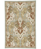 RugStudio presents Rugstudio Sample Sale 61943R Sea Blue/Ice Blue Hand-Hooked Area Rug