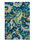RugStudio presents Jaipur Rugs Barcelona I-O Calico Ba23 Blue Hand-Hooked Area Rug