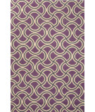 RugStudio presents Jaipur Rugs Barcelona I-O Barbells Ba26 Purple Hand-Hooked Area Rug