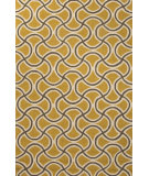 RugStudio presents Jaipur Rugs Barcelona I-O Barbells Ba28 Yellow/Taupe Hand-Hooked Area Rug