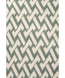 RugStudio presents Jaipur Rugs Barcelona I-O Interlocked Ba30 Aqua/Ivory Hand-Hooked Area Rug