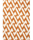 RugStudio presents Jaipur Rugs Barcelona I-O Interlocked Ba31 Orange/Ivory Hand-Hooked Area Rug