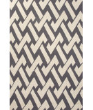 RugStudio presents Jaipur Rugs Barcelona I-O Interlocked Ba32 Gray/Ivory Hand-Hooked Area Rug
