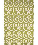 RugStudio presents Jaipur Rugs Barcelona I-O Ironwork Ba33 Green/White Hand-Hooked Area Rug