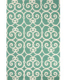 RugStudio presents Jaipur Rugs Barcelona I-O Ironwork Ba34 Blue/White Hand-Hooked Area Rug