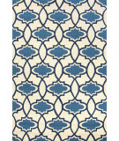 RugStudio presents Jaipur Rugs Barcelona I-O Moresque Ba38 Blue Hand-Hooked Area Rug