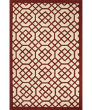 RugStudio presents Jaipur Rugs Barcelona I-O Grid Trellis Ba40 Red/White Hand-Hooked Area Rug