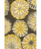 RugStudio presents Jaipur Rugs Barcelona I-O Starburst Ba56 Yellow/Gray Hand-Hooked Area Rug