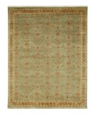 RugStudio presents Rugstudio Sample Sale 53263R Celadon Green/Ginger Brown Hand-Knotted, Good Quality Area Rug