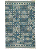 RugStudio presents Jaipur Rugs Batik Lahu Bat03 Indigo Blue/Floral White Flat-Woven Area Rug