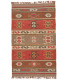RugStudio presents Rugstudio Sample Sale 74744R Deep Rust Flat-Woven Area Rug