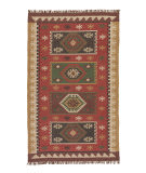 RugStudio presents Jaipur Rugs Bedouin Amman Bd04 Red Flat-Woven Area Rug
