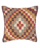 RugStudio presents Jaipur Rugs Bedouin Omman Pillow Bd11 Cocoa Brown / Mix