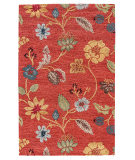 RugStudio presents Jaipur Rugs Blue Garden Party BL05 Navajo Red/Marigold Hand-Tufted, Good Quality Area Rug