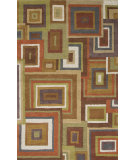 RugStudio presents Jaipur Rugs Blue Frame Work Bl108 Medium Gold Hand-Tufted, Good Quality Area Rug