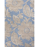RugStudio presents Jaipur Rugs Blue Bouquet Bl117 Aegean Blue & Silver Gray Hand-Tufted, Good Quality Area Rug
